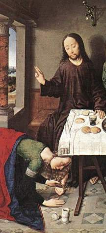 Christ in the House of Simon Dieric Bouts CROP